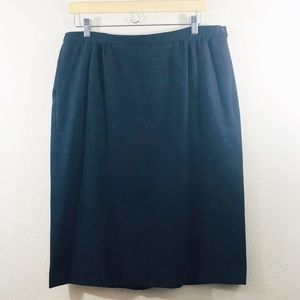 Pendleton | A Line Skirt with Pockets | Size 16 W